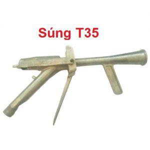 súng t35 gắn dây loa bình chữa cháy xe đẩy