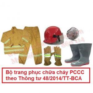 Bộ trang phục chữa cháy PCCC theo Thông tư 48/2014/TT-BCA