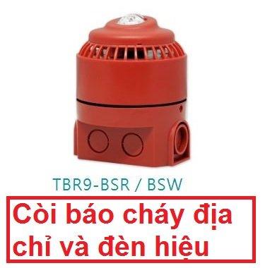 Còi báo cháy địa chỉ và đèn hiệu điện tử Horing TBR9-BSR/BSW