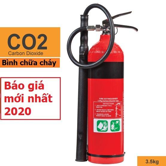 Báo giá bình chữa cháy khí Co2 3kg MT3