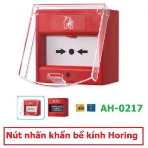 Nút nhấn khẩn bể kính Horing AH-0217 (CE) (EN) có nắp bảo vệ