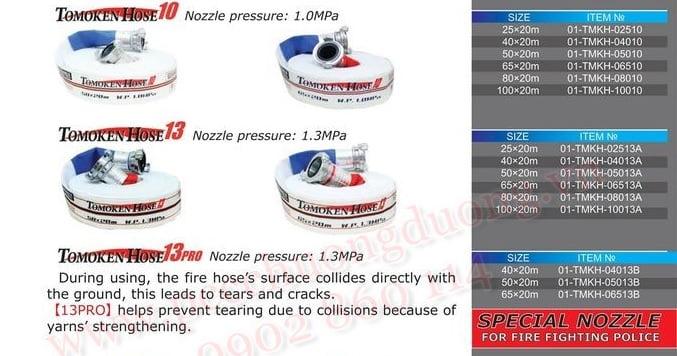 catalogue vòi chữa cháy Tomoken