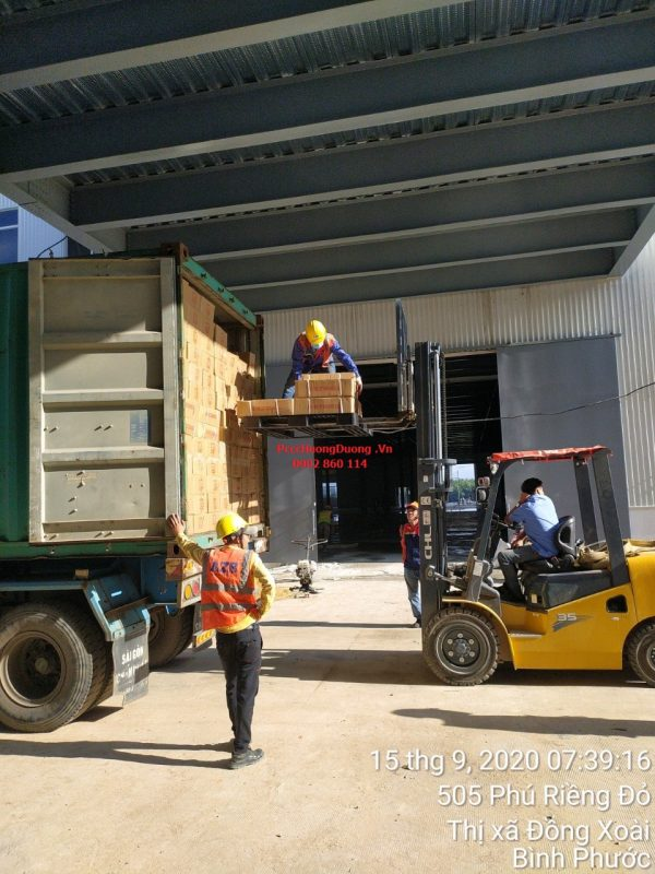 Giao container bình chữa cháy cho công trình
