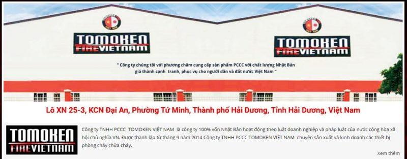 Thiết bị Pccc Tomoken Việt Nam