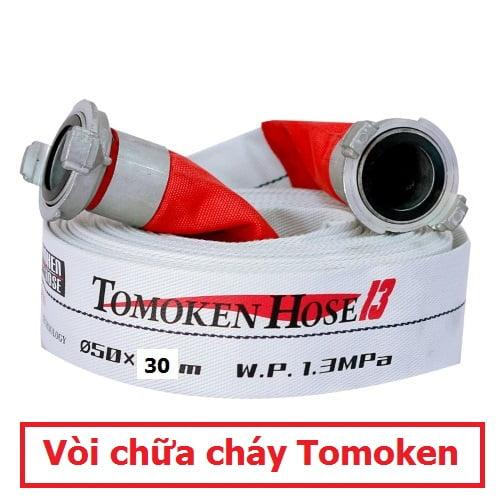 Vòi chữa cháy Tomoken D50 x 30m x1.3Mpa FIREST kèm khớp nối GOST